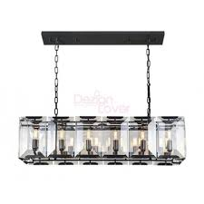 rh harlow crystal rectangular chandelier