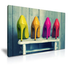 china high heeled shoes wall art canvas picture china canvas printed painting decoration painting