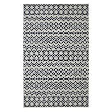 mohawk aztec bands denim blue 8 ft x 10 ft area rug