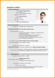 new resume format