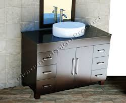 details about 48 bathroom vanity 48 inch cabinet black top ceramic vessel sink faucet cms1