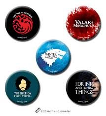 Online Badge Game Of Thrones Pin Badges Fridge Magnet 2 In 1 Set Of 5