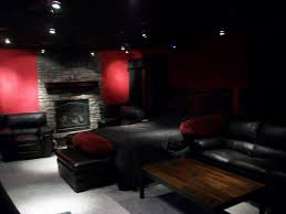 Dimmable Track Lighting In Movie Theater Room