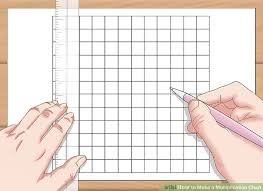 3 Ways To Make A Multiplication Chart Wikihow