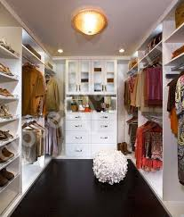 Modern White Walk in Closet transitional-closet