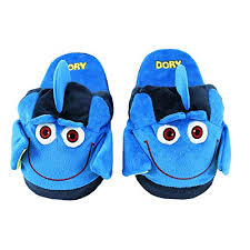 Stompeez Animated Dory Plush Slippers Ultra Soft And Fuzzy Fins Flap And Flutter As You Walk