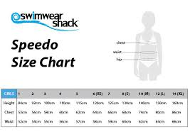 Speed O Guide Size Chart Speedo Bathing Suit Size Guide
