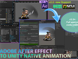 After Effects Animation Ae2unity After Effect To Unity Animation Asset Store