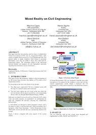Civil Engineering Charts Pdf Mixed Reality On Civil Engineering