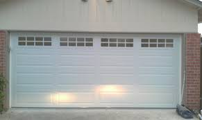 two car garage doorstockton garage door windows  Insulated two car garage door with
