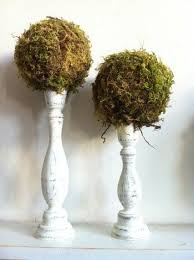 Moss Balls Wedding Decor Inspiration Moss Topiary Topiary Moss Ball 32 Small Table Decor Outdoor