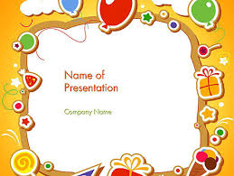 Babys Photo Frame Free Presentation Template For Google