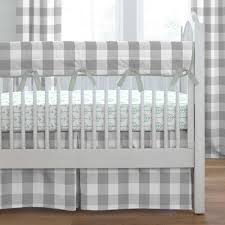gray buffalo check crib bedding