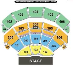 Park Theater Seating Chart Park Theater Las Vegas Nevada