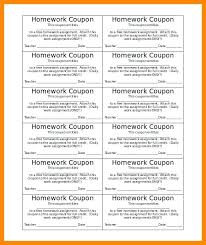 Coupons Template Blank Coupon Word Work Assignment Tracker