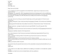 Cover Letter Sponsorship Event Sponsorship Examples Ethercard Co