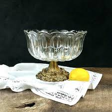 princess house heritage pattern glass compote