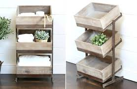 wooden crate shelves tiered tray 1 luxury bathroom