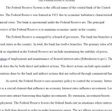 reserve system essay federal reserve system essay