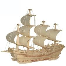 new wooden 3d puzzle diy assembly model ship for kids educational toys assembled s size 40 10 35cm factory cost order 1 pcs or more