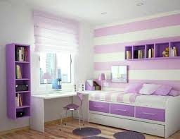 Purple Teenage Bedrooms Excellent Purple Girls Room Design With White Learn Table And