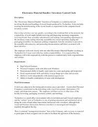 Clerk Job Description Resume Receiving Clerk Job Description Template Inventory Control Clerk 43