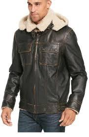 mens big tall vintage er leather jacket