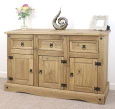 Mexican Pine Living Room Furniture Mercers Furniturear Corona Mexican Pine Large 3 Door 3 Drawer Sideboard