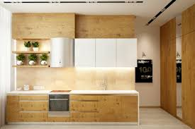 Wooden Kitchen Furniture 25 White And Wood Kitchen Ideas