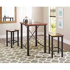 3 Piece Dining Set Amazoncom Gracelove Dinette Sets For Small Spaces Pub Table Set