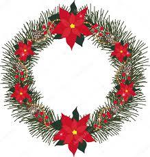Fichte Kranz Mit Blumen Weihnachtsstern Tannenzapfen