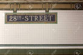 subway station wall.  Wall New York City Station Subway 28th Street Sign On Tile Wall The NYC Subway  Is In Wall M