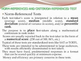 criterion referenced assessment comparing norm and criterion referenced tests coursework help