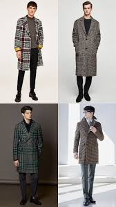 how to wear a check overcoat