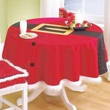 new year diy round table decoration cloth tablecloth joyous red table cover