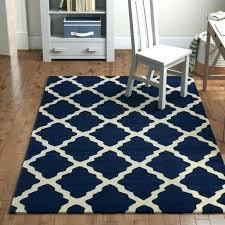 trellis rug navy blue moroccan 8x10