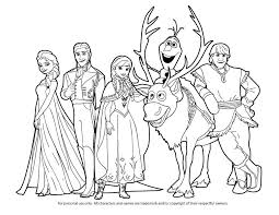 Disney Frozen Elsa And Anna Coloring Pages Frozen Coloring Page