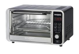 with this easy to use and clean countertop convection oven you can cook a pizza bake toast convection bake and even broil waring pro tco650 digital