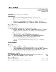 ... Remarkable Preparing A Resume Australia In Cook Resume Skills ...