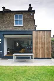 kitchen extension , sliding doors and cedar cladding