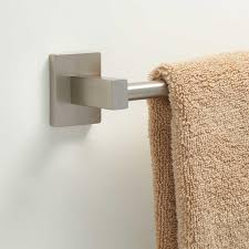 towel bar with towel. Helsinki Towel BarSave Space With The Sleek, Solid Brass Collection Bar. Simple Lines Of This Bar Make It A Great Addition To Any I