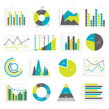 Different Types Of Graphs And Charts Colored And Isolated Graphs Flat Icons Set Different Types Of