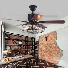 2019 42 inch 52 inch loft industrial ceiling fan light creative dining room fan light art resturant bar with remote control from callaway 424 55 dhgate
