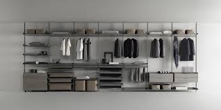 piombo lacquered aluminium structure shelves with grey transpa glass accessories in regenerated argilla leather