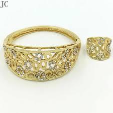 Gold Ring Bracelet Designs New Design Good Quality Dubai Gold Jewelry Sets Bangle Ring