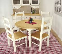 white round dining table diameter 110 cm table 5 piece set french country style