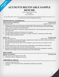 Accounts Receivable Resume