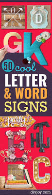 Word Signs Wall Decor 100 Cool and Crafty DIY Letter and Word Signs 71