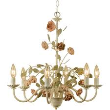 af lighting ramblin rose chandelier 6 60w candle bulbs 22 hx21 w swag or hardwire