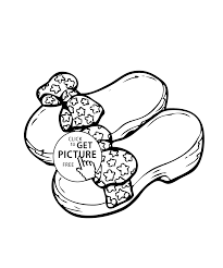 Small Picture shoes with bows coloring page for girls printable free